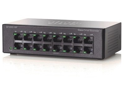 Switch Cisco 16 porturi 8 PoE + 8