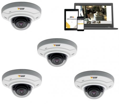 Kit 4 camere AXIS M3004-V SURVEILLANCE KIT